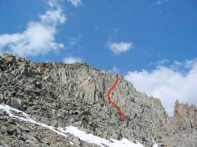 Mt. Gayley's south face from...