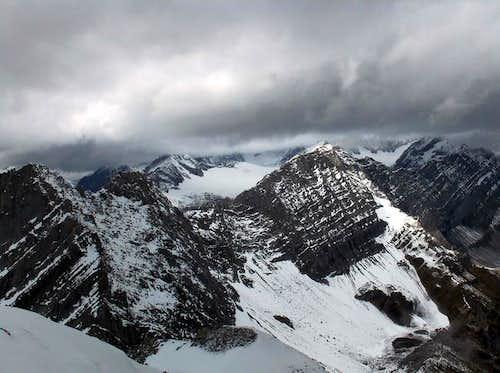 The view towards Mount Black...