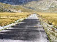 Road from Mavrovo to Galicnik