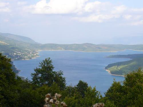 View on the Mavrovo Lake....