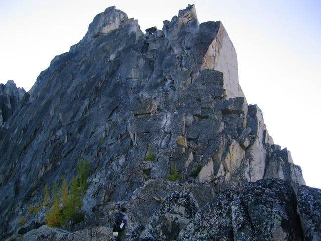 West Ridge route seen from...