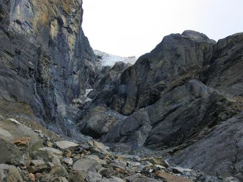 The gulley leading from...