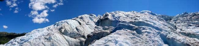 Pan of the Colman Glacier,...