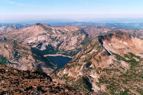 Bass Lake from the summit of...