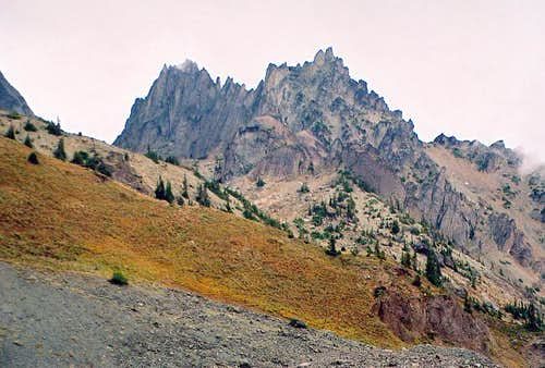 Mt. Clark (7,528 ft) and The...