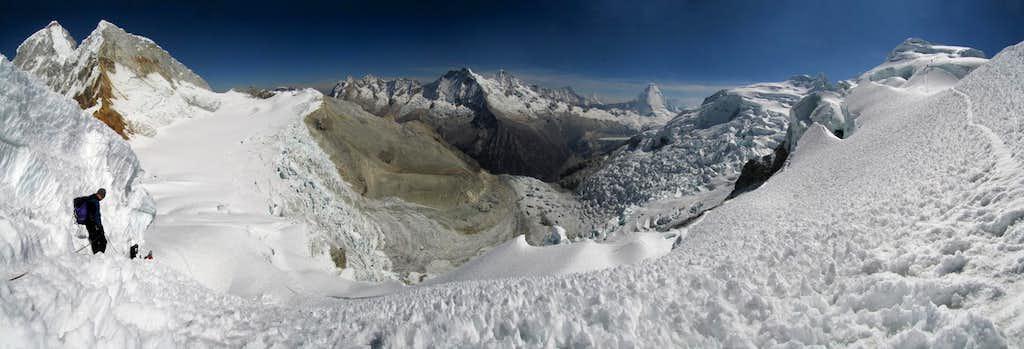 Panorama from SW ridge of...