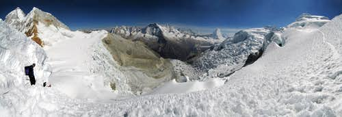 Panorama from SW ridge of...