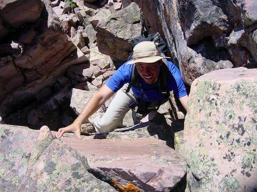 Climbing through the cliffs...