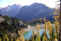 lewis lake looking east...