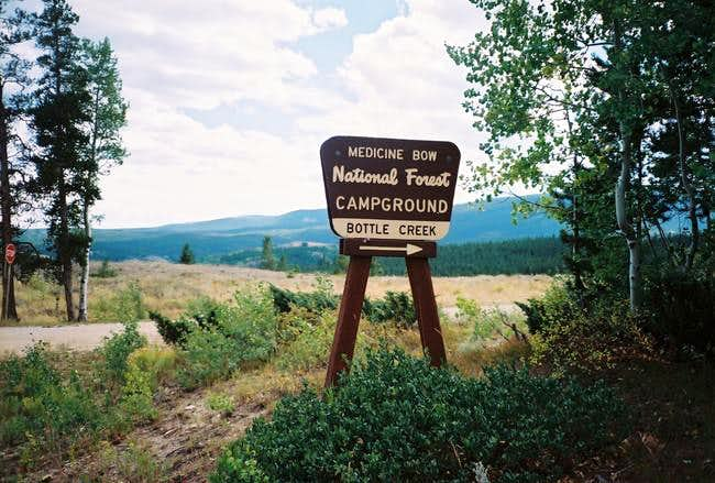 The Bottle Creek Campground...