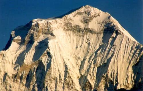 Dhaulagiri summit in the...