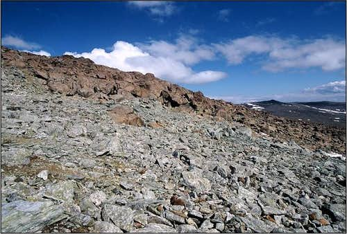 South slope of Halti during...