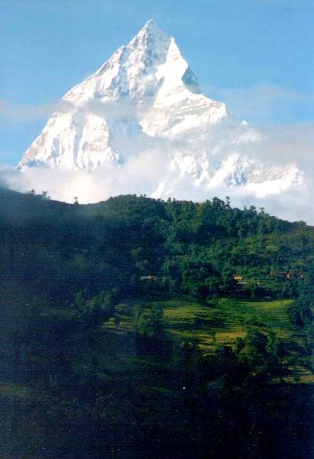 Machhapuchare after a heavy...