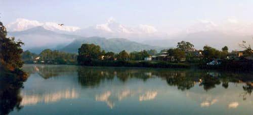 Annapurna range with...