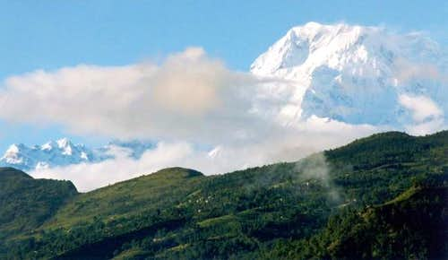 Annapurna South seen from...