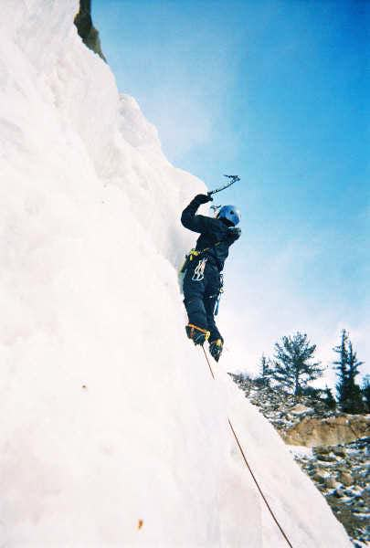 Me on one of my first ice...