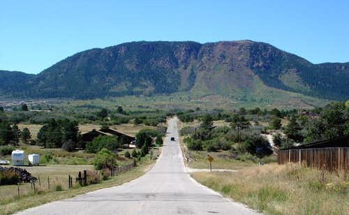 Mt. Herman dominates the...