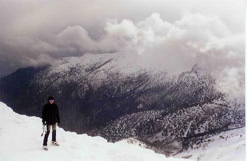 On the summit of Lazaros...