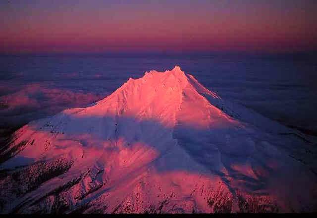 Mount Jefferson's west face...