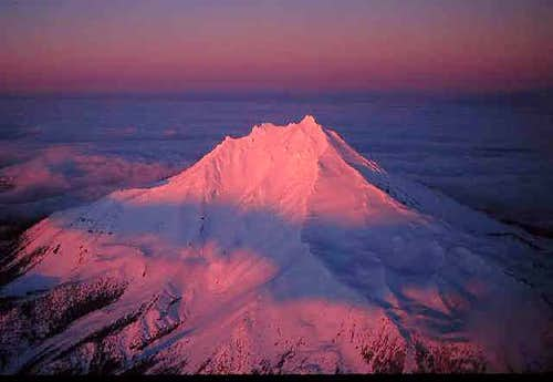 Mount Jefferson\'s west face...