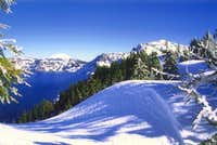 Crater Lake in winter from...