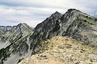 Martin Peak from the ridge...
