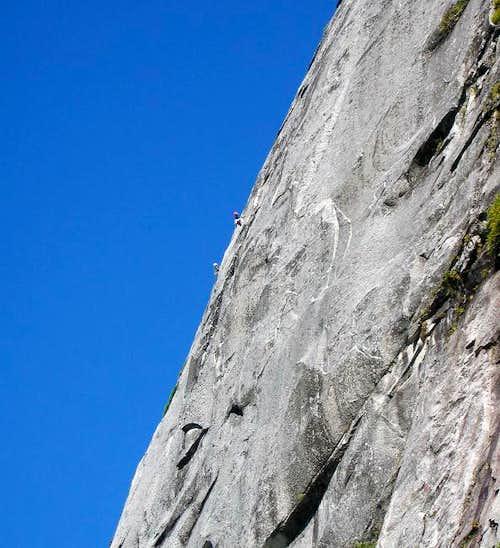 Two climbers high on Jacob's...