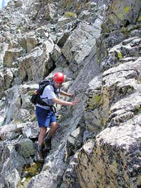 Andy M. descending the...