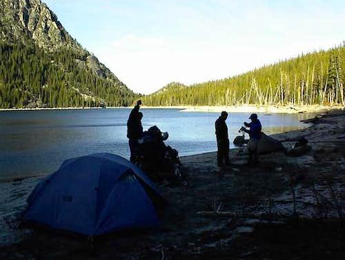 Camping at Upper Snow Lake -...