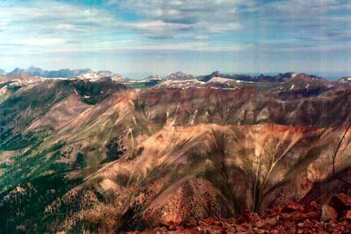 View from Redcloud Peak...