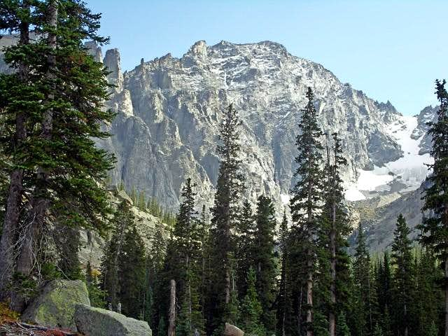 The north face of Apache Peak