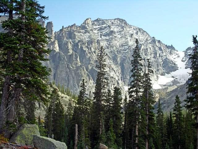 The north face of Apache Peak