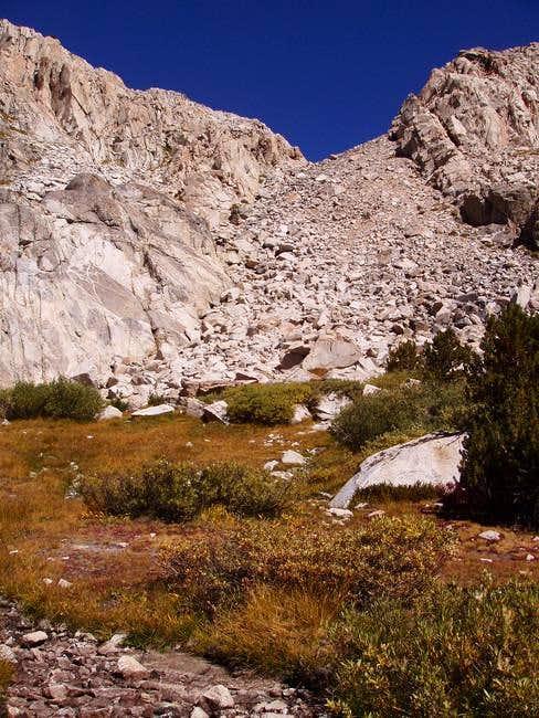 This dry boulder filled creek...