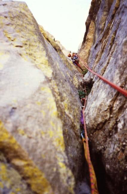Aid climbing in the 800\'...