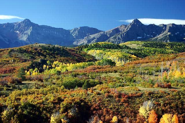 Fall colors below Mears Peak...