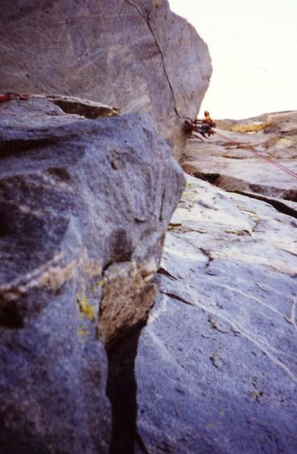 Nailing the giant overhang at...