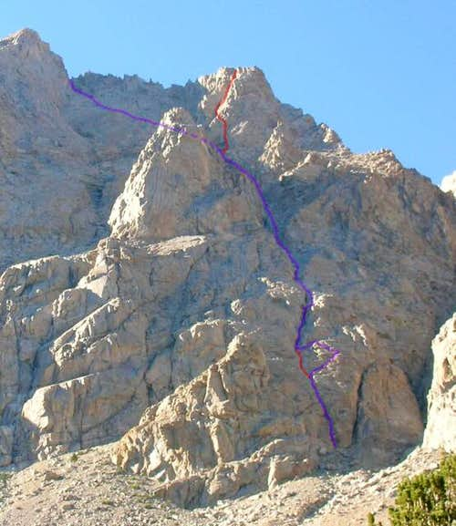 The Southeast Face Route...