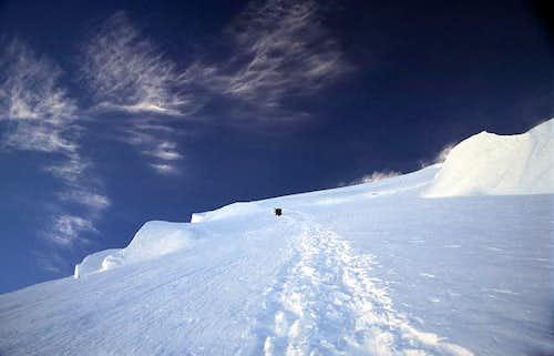 A cold morning at 6800m. Deep...