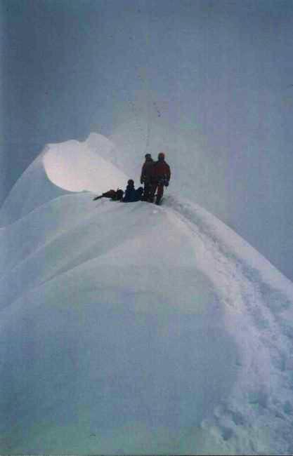 Impressive summital ridge...