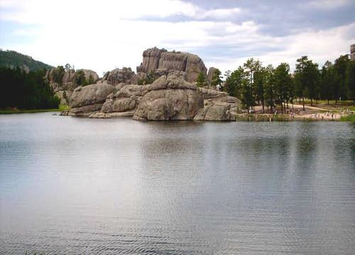 Sylvan Lake; the trailhead to...