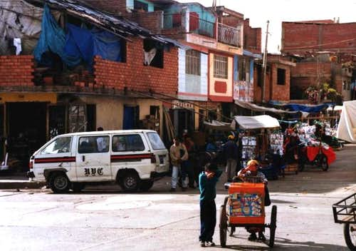 The streets of Huaraz.