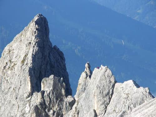 Climbers at the Königsjodler...