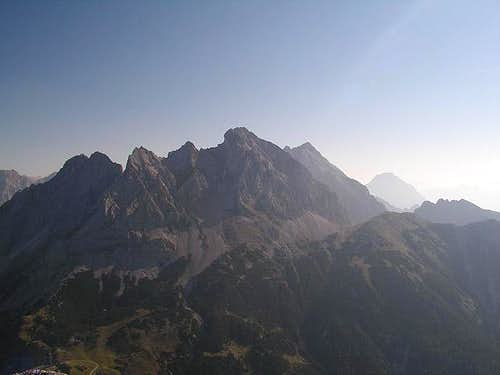 Mieming Range from summit of...