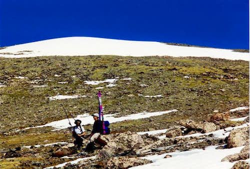 A couple of skiers in our...
