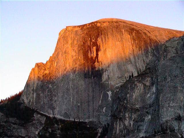 Sunset over Half Dome from...