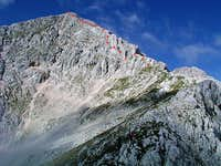 The summit ridge of Grintovec...