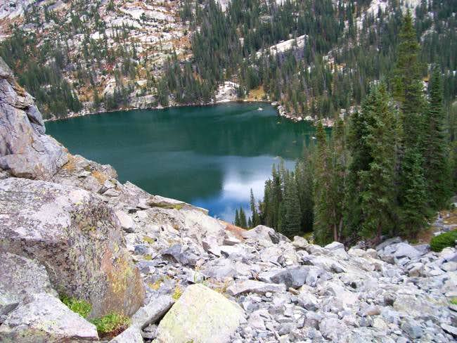 View down on Crater Lake....