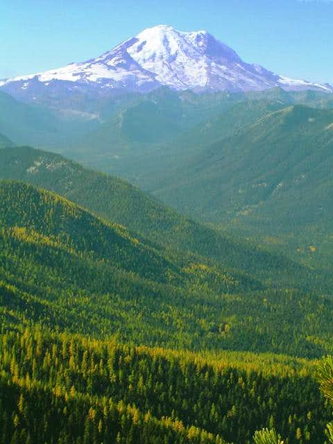 Mt Rainier, as taken from the...