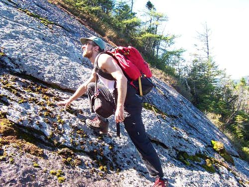 Past the top of the crux (DO...