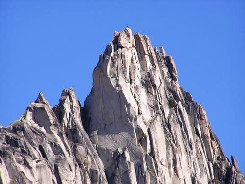 Zoomed in shot of a climber...